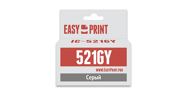 Картридж EasyPrint IC-CLI521GY (Серый)