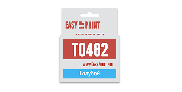 Картридж EasyPrint Epson C13T0482  (Голубой)
